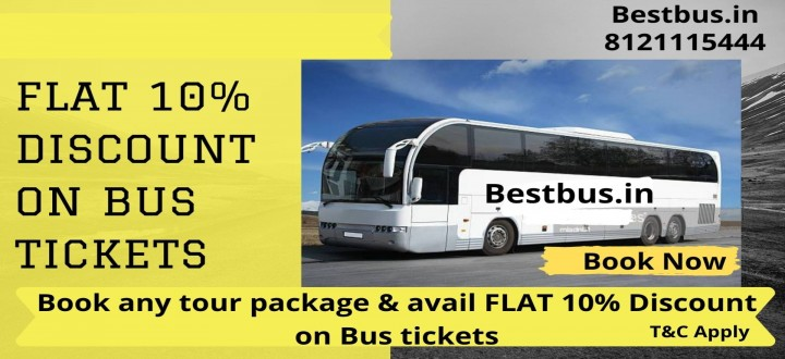 Get Flat 10% Discount on Bus Tickets