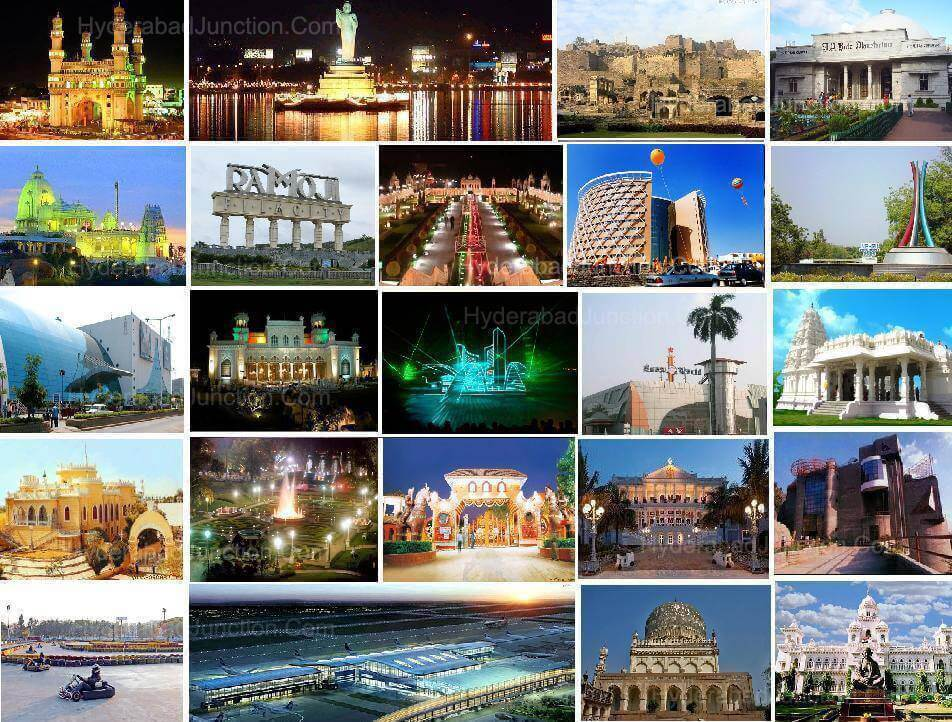 Hyderabad Tourist places map