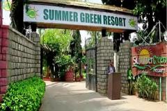summer green resort images