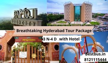 Breathtaking 3 Nights-4 Days Hyderabad Tour Package with Ramoji Film City-Wonderla