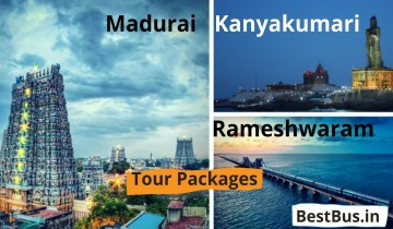 Bangalore to Madurai Rameshwaram Kanyakumari 2 Nights-3 Days Tour Package
