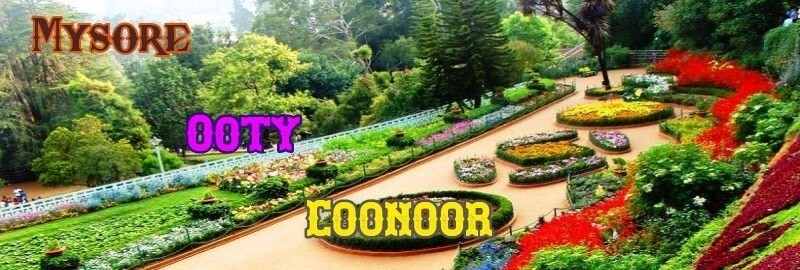 Bangalore To Mysore Ooty Coonoor 2 Nights-2 Days Tour Package by Car