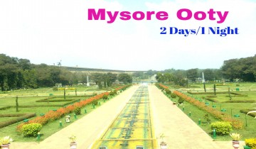 Bangalore To Mysore Ooty 1 Night-2 Days Tour Package by Car