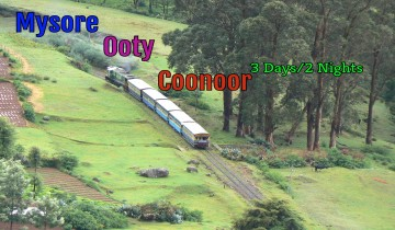 Bangalore To Mysore Ooty Coonoor 2 Nights-3 Days Tour Package by Car