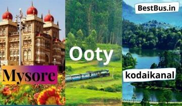 Bangalore To Mysore Ooty Kodaikanal 3 Nights-4 Days Tour Package by Car