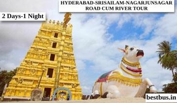 2 Days-1 Night Hyderabad to Srisailam-Nagarjuna Sagar Road-Cum-River Tour