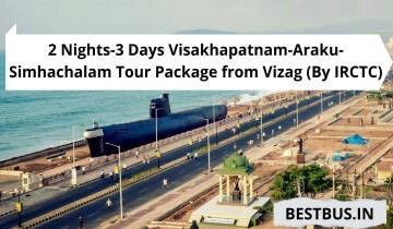 2 Nights-3 Days Visakhapatnam-Araku-Simhachalam Tour Package from Vizag